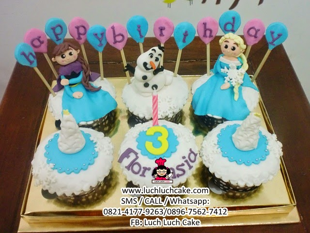 Cupcake Frozen Elsa Anna Olaf Daerah Surabaya - Sidoarjo