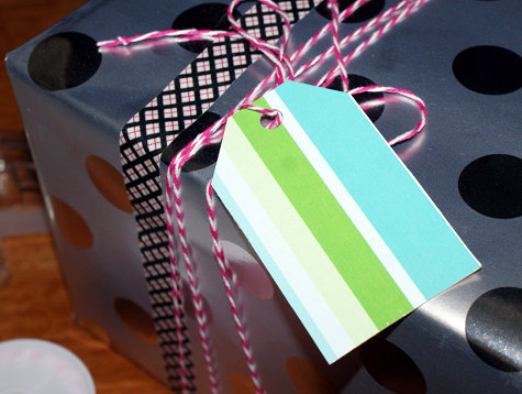 DIY Handmade Gift Tags - Upcycled Tissue Box and Washi Tape Gift Tags