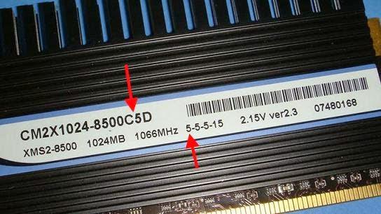 DDR2-1066 có CL 5.