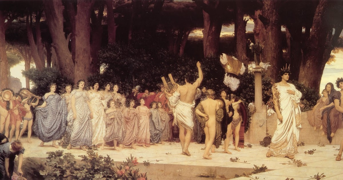 Lord Leighton S Painting Of The Daphnephoria