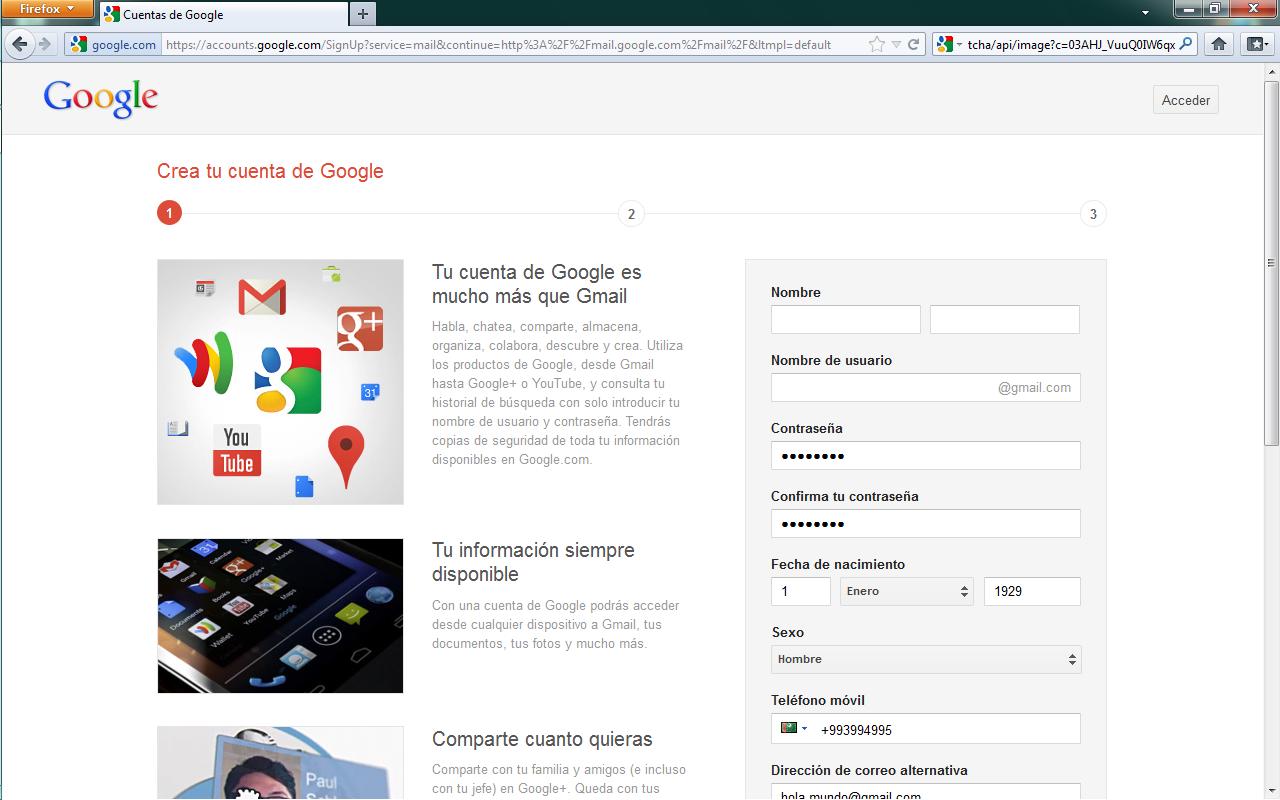 Gutenberg... algo personal!!: Google obliga a nuevos usuarios Gmail crear cuenta Google+