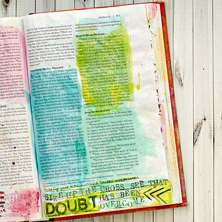 Art Worship Mixed Media Art Journaling Bible | Illustrated Faith | John 6