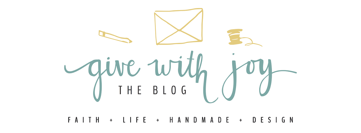 give with joy // the blog