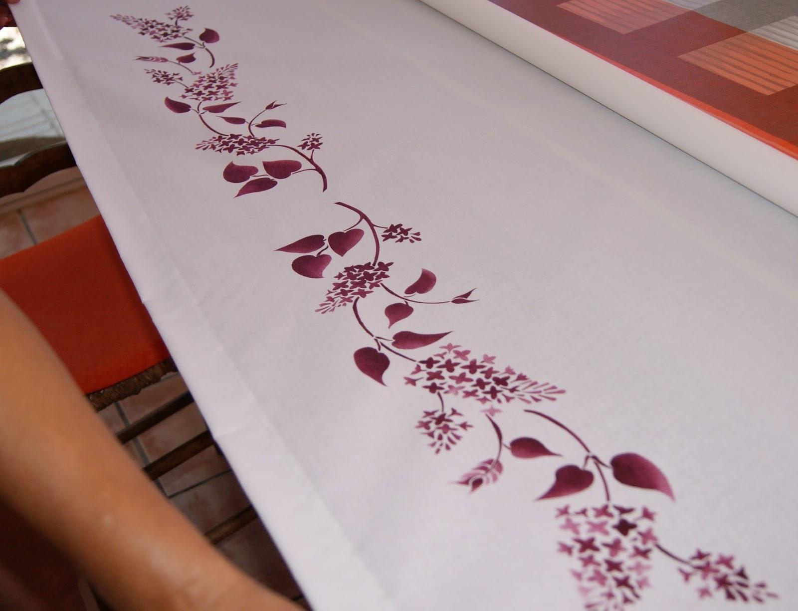 Artali cortina pintada a mano - Como pintar telas a mano ...