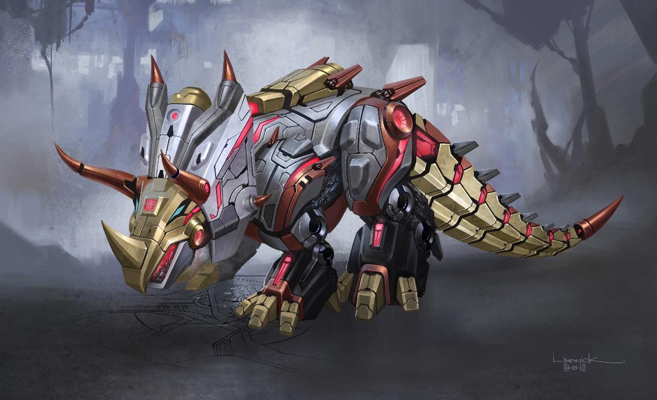 Waylander dino madness grimlock design study - Dinosaure transformers ...