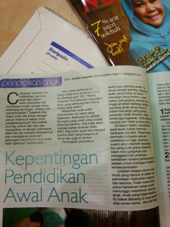 LAGI ARTIKEL ASHIKIN HASHIM