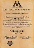 Certificado de Aparición
