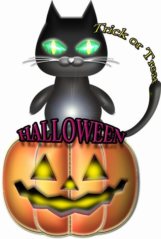 ハロウィンの黒猫イラスト見本2
