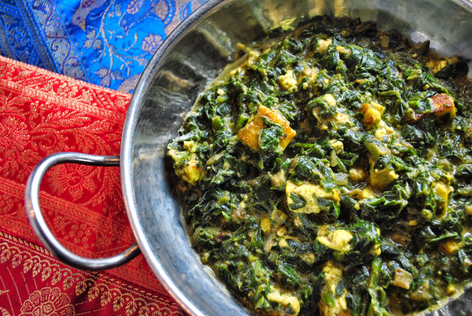 this indian dish is saag paneer it is one of
