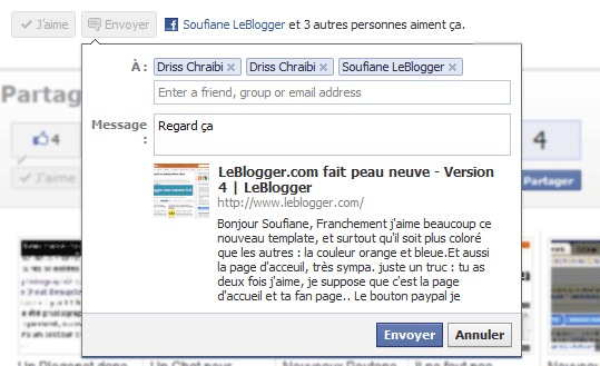 Envoyer Facebook