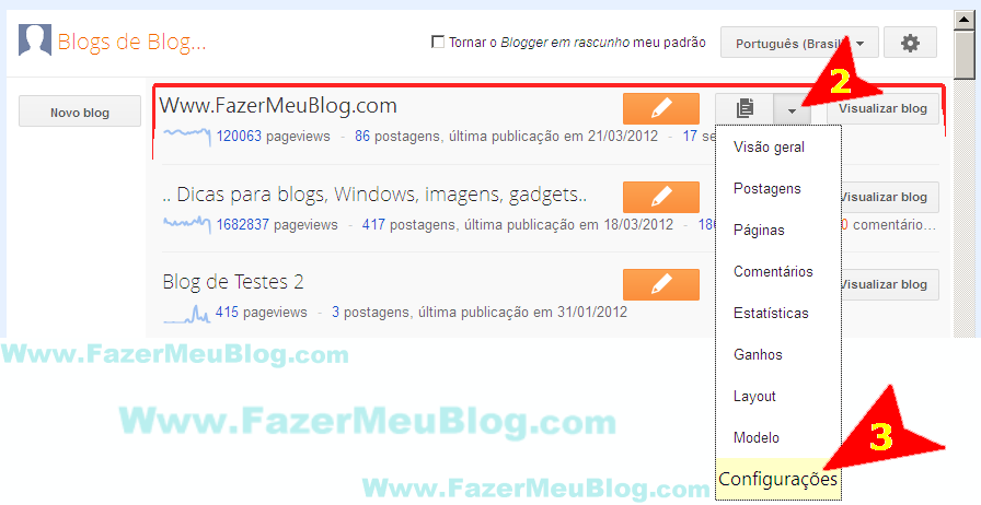 Como fazer para configurar meta-tag description no blogger