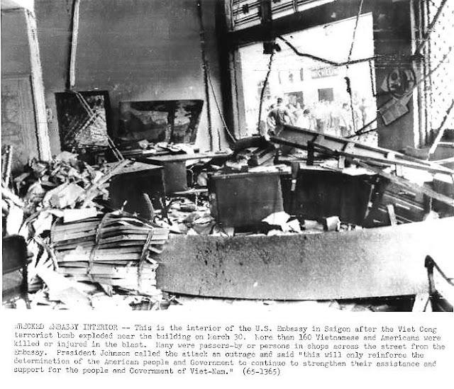 Vietcong terrorism American embassy bomb attack March 30 1965
