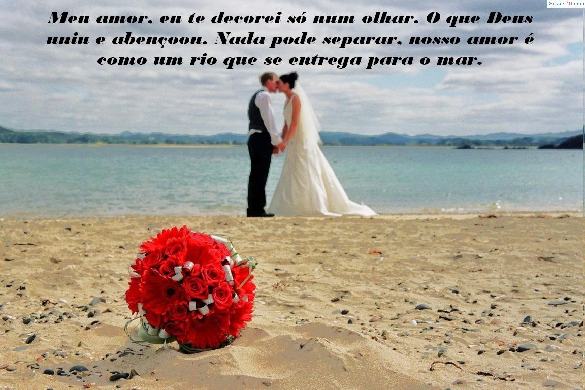 Mensagem de Deus Para Casal Casamento na praia
