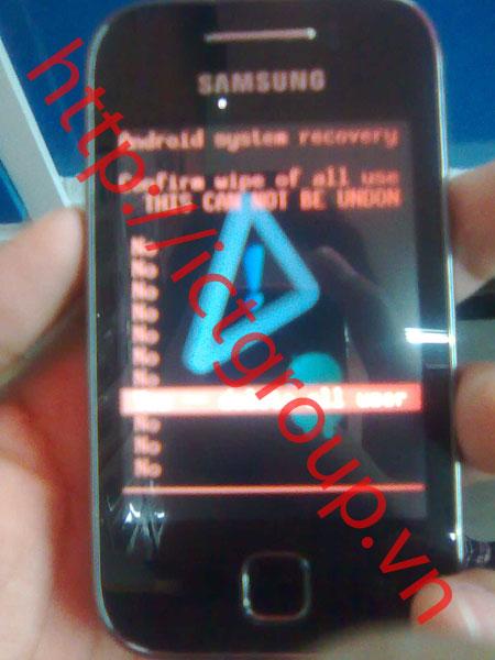 mở mã bảo vệ Samsung Galaxy Y (GT s5360)