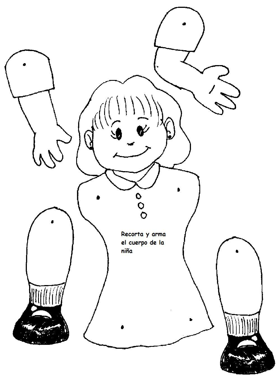 Famoso Partes Del Cuerpo Niñas Con Diagrama Bosquejo - Imágenes de ...