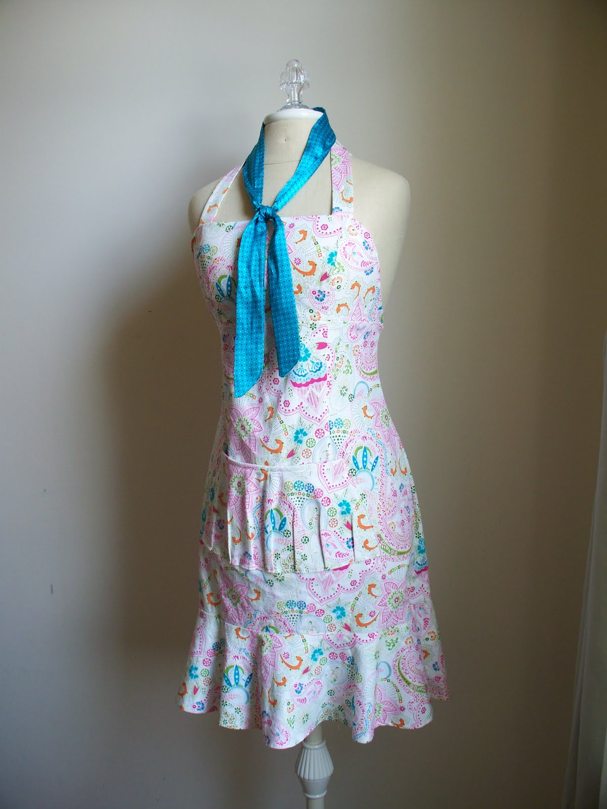 Krista Sew Inspired: Upcycle an APRON from Summer dresses