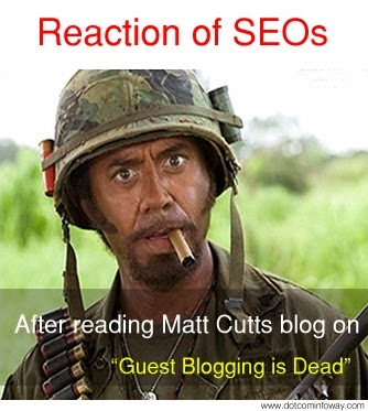 reaction of an seo expert