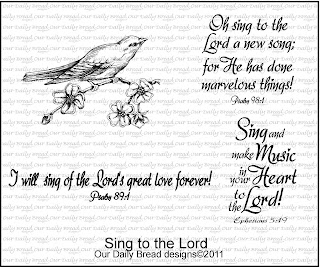 "Our Daily Bread designs ""Sing To The Lord"""