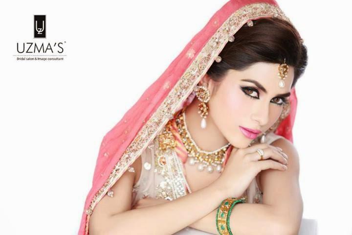 Uzma S Mehndi Makeup : Bridal makeup stylecry dresses women wear