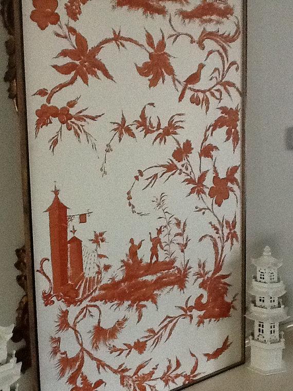 Framed Chinoiserie Wallpaper Panels