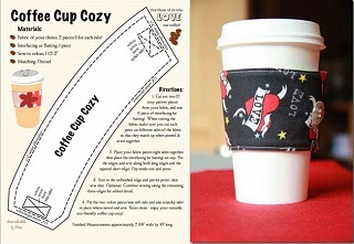 Image: Reversible Coffee Cup Sleeves by craftystaci.com. Coffee Cozy Tutorial by hawaiianpaperdoll.com