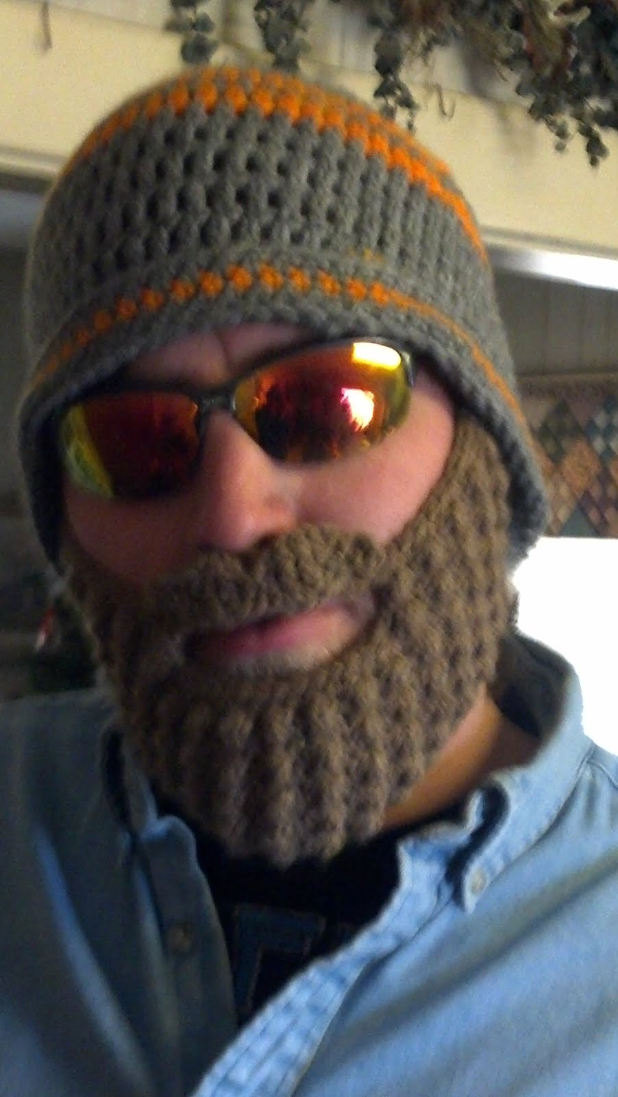 Beanie Hat With Beard Crochet Pattern Free : Our 7 Acres: Crochet and Crafts