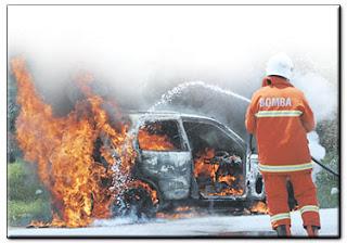 Kes kereta wira terbakar di johor bahru ketika pergi ke jpo