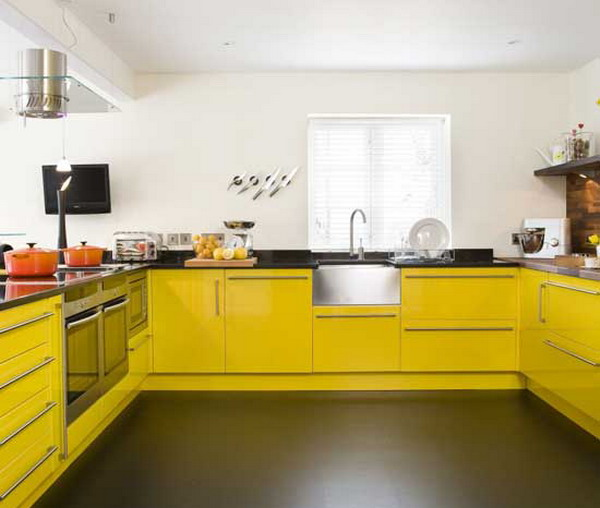 Modern Yellow Kitchen Furniture Prime Home Design Modern Yellow Kitchen Furniture