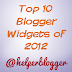 Top 10 Blogger Widgets Of 2012