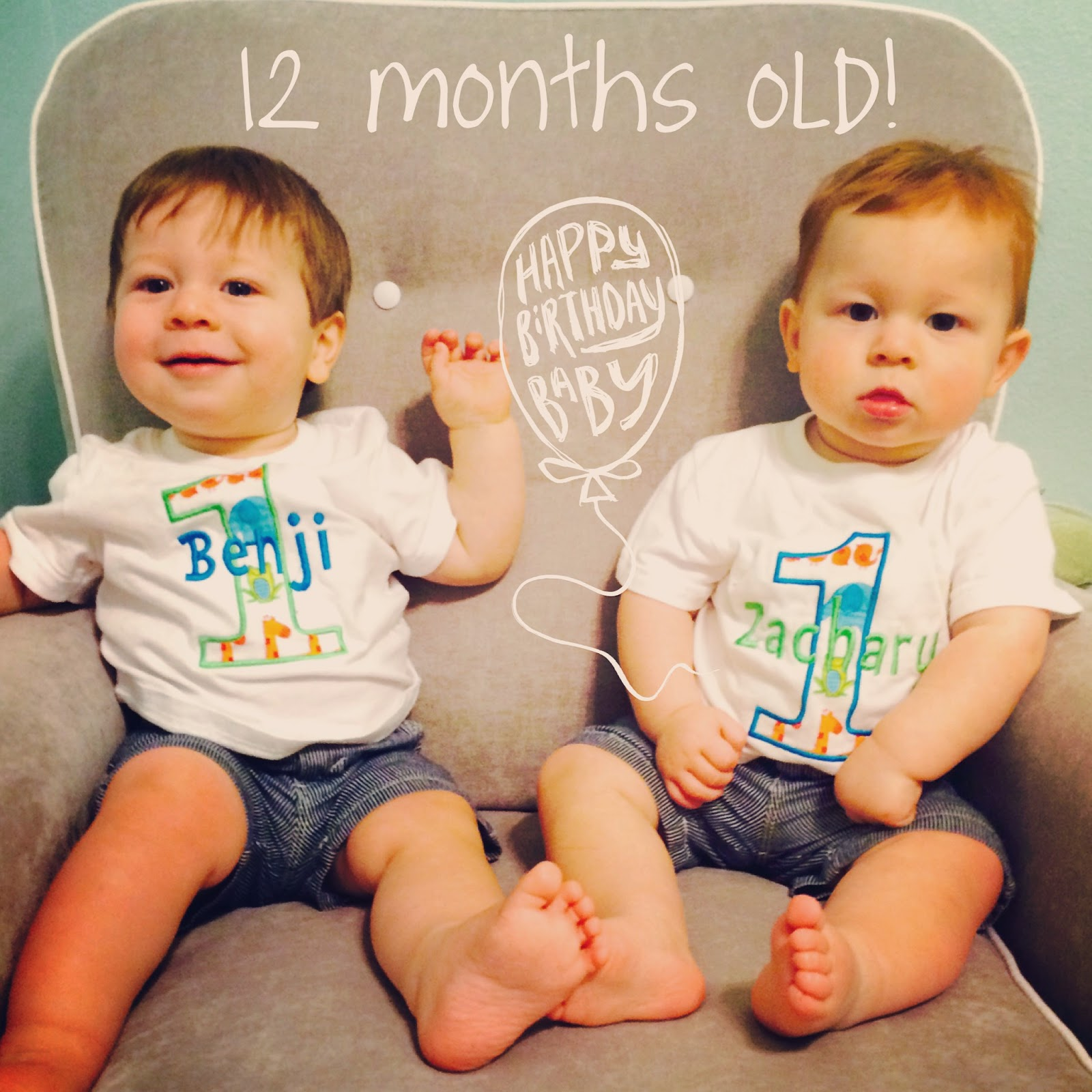 the salsky update 12 months old one year old twins