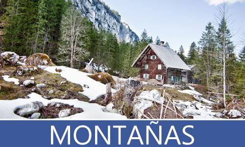 Colección de imágenes de las grandes montañas rurales en el desierto, bosques, selvas y montañas nevadas junto al lago - Mountains