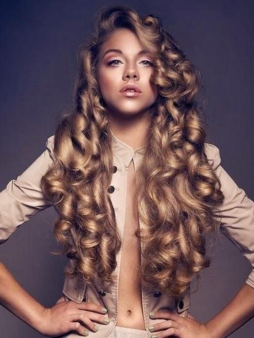 cool curly long hairstyles 2014