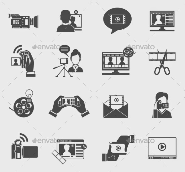 video blog icons