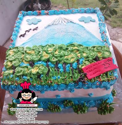 Kue Tart Gunung Fuji Buttercream Cake