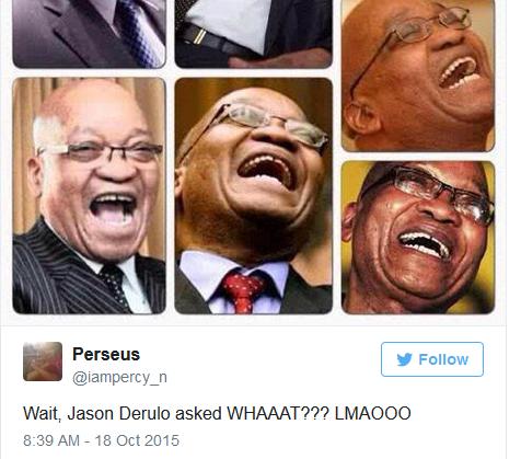 Jason Derulo asks South Africans if they speak English.  2