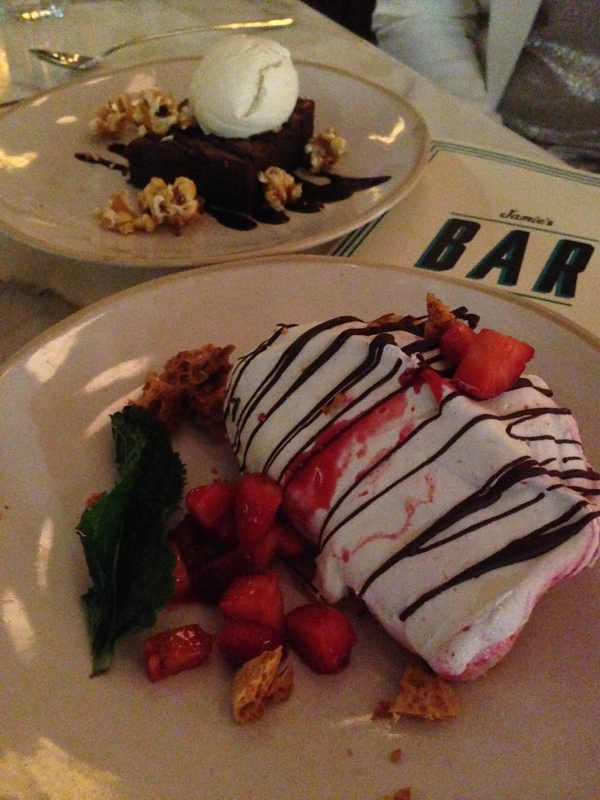 jamie's, italian, adelaide, food, dessert, sweets, pavlova, chocolate, brownie, icecream, raspberries, honeycomb