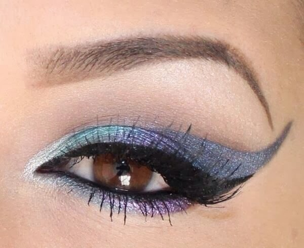 maquillage artistique yeux couleur marrons