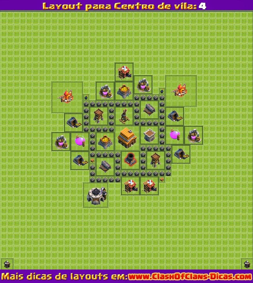 расстановка для тх 4 clash of clans для кв