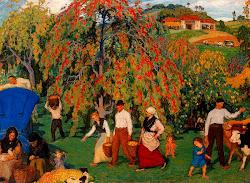 Recogiendo la manzana de Piñole