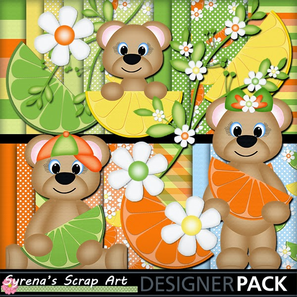 Digital Scrapbook kit Summer