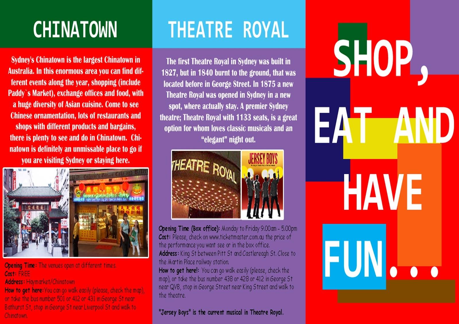 sara biancardi u0026 39 s portfolio  tourist sydney brochure