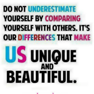 Do not underestimate yourself by comparing with others
