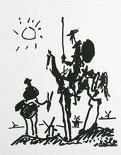 Don Quijote, serigrafía de Pablo Picasso