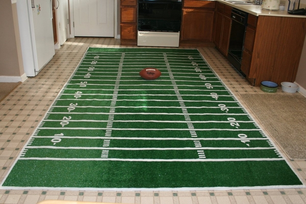 Everything Has Its Wonders Football Field Table Runner