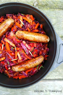 Easy, healthy recipes: cabbage and carrots #paleo, #easyhealthyrecipes