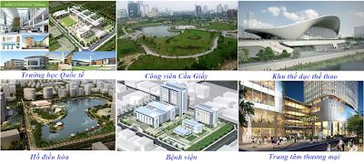 Cơ sở hạ tầng xã hội chung cư 219 trung kính