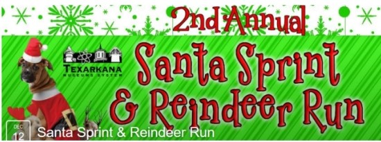 Santa Sprint 5k Texarkana Museums System Reindeer Run Health Texarkana Doctors