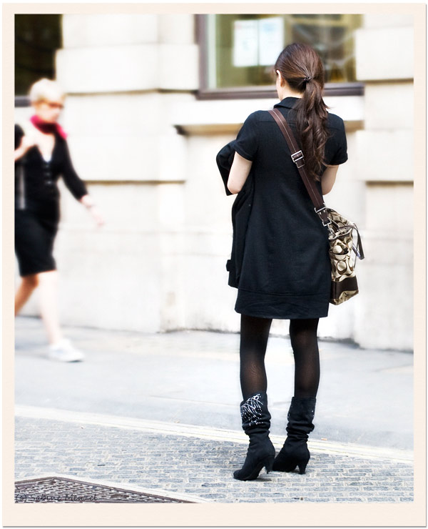 Psynopsis Streetstyle London Black Polo Dress Studded Boots
