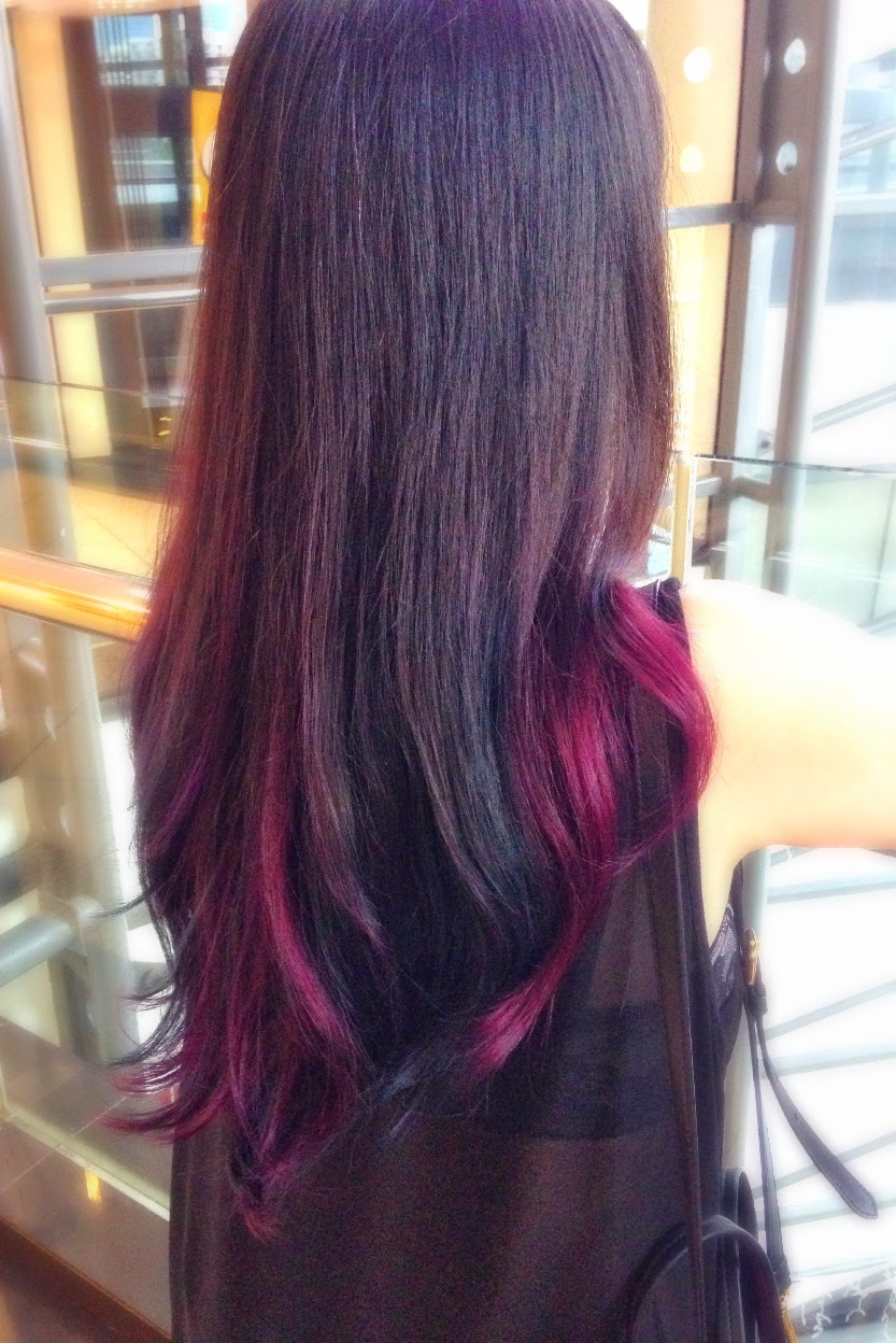 Red Purple Ombre Hair My pink blue ombre hair!