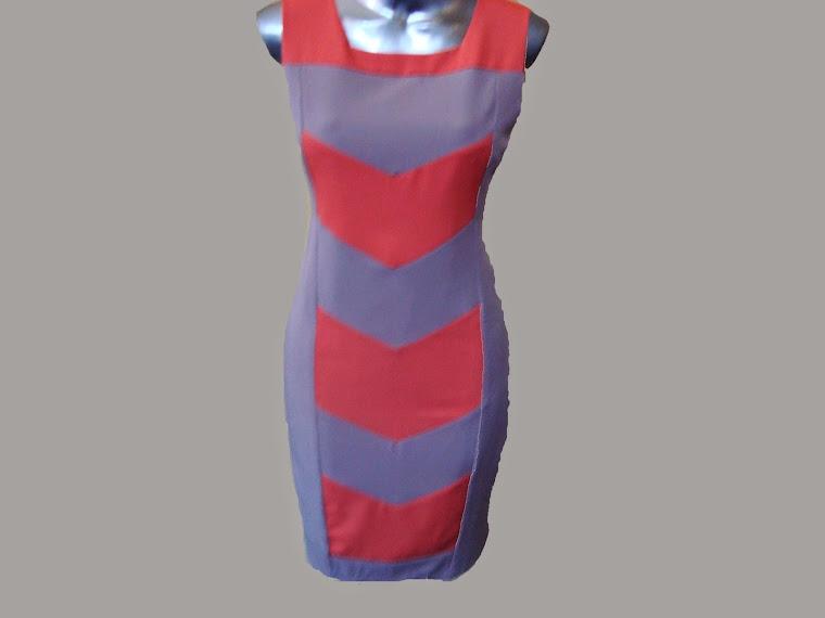 vestido tubinho de prada de duas cores